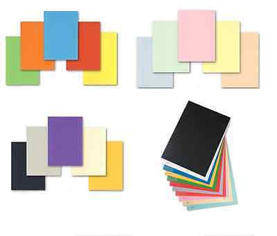 10 sheets A4 160gsm coloured card pick any from 24 colours CARD MAKING & CRAFT
