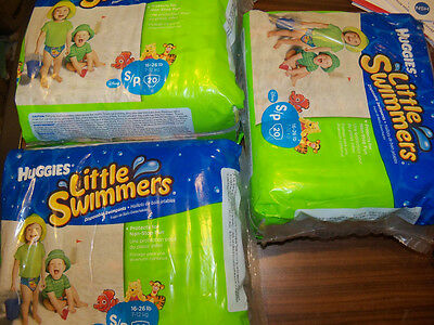 Huggies Little Swimmers Swim Diapers Size 16 / 26 Pounds  3 x 20 Ct Package = 60