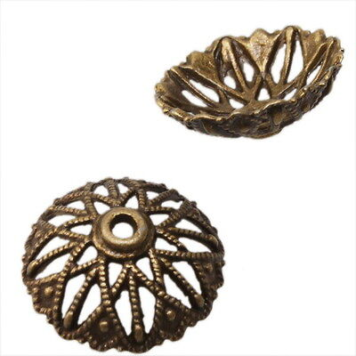 20x 160528 Wholesale Antique Bronze Charms Beads End Cap 20mm Jewelry Findings