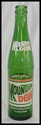 OLD 10 OUNCE MOUNTAIN DEW SODA POP BOTTLE