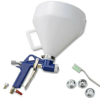 Air Hopper Spray Gun Paint Texture Drywall Wall Construction Painting w/3 nozzle