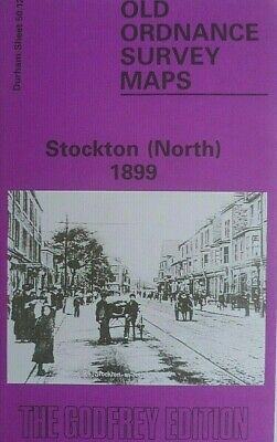 OLD Ordnance Survey  Detailed Maps Stockton North Durham 1897 Sheet 50.12 New