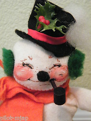 """Annalee '87 1978 1982 ~ 9"""" Standing Snowman - Jolly with Pipe"""