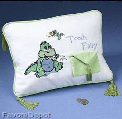 Dinosaur Tooth Fairy Pillow first birthday baby gift  baby shower gift