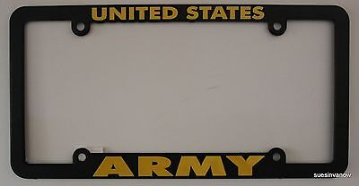 New United States Army Black License Plastic Frame Military Car US Soldier
