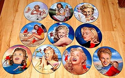 Remembering Norma Jeane Marilyn Monroe Hamilton Plate Collection Set Lot
