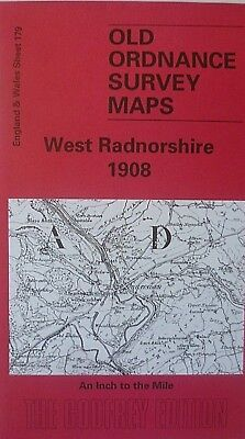 Old Ordnance Survey Map West Radnorshire & plan of Abbey-Cwmhir 1908 Sheet 179