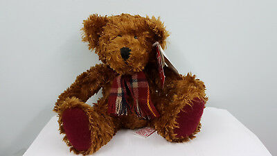 "CHRISTMAS  MINT 11"" Russ Bear  - Silky Brown Plush Bear"