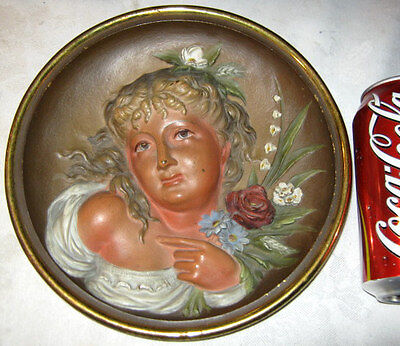 Antique Bradley & Hubbard Cast Iron Summer Rose Flower Wall Art Plaque Painting