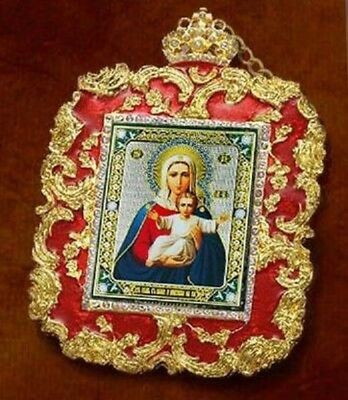 I'm With You Russian Icon Christ Pendant Madonna & Child Christmas Easter Gift
