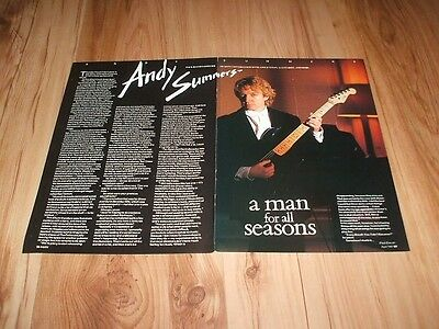 Andy Summers(The Police)-1987 magazine article