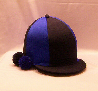Riding Hat Cover - Navy Blue & Royal Blue