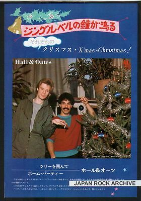 1981 Hall & Oates Xmas tree JAPAN mag photo pinup /mini poster /clipping cutting