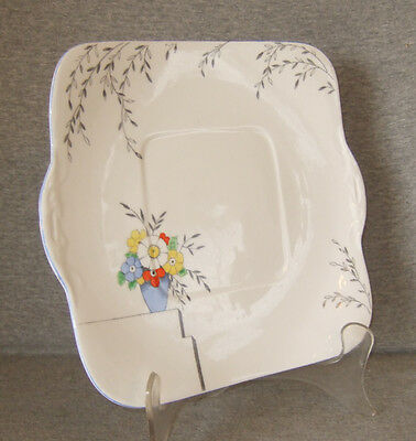 "Heathcote The Glade Square Underplate~bone china~9-1/2""~exc.cond."