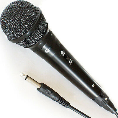 """Handheld Dynamic Microphone - Wired DJ/PA Stage Karaoke & ¼"""" Cable for Singing"""