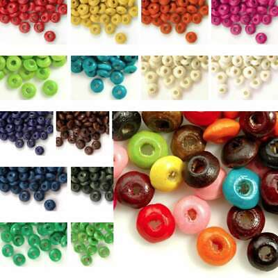 Wholesale 810pcs wooden beads 3x6mm rondelle choose from 20 colours free ship