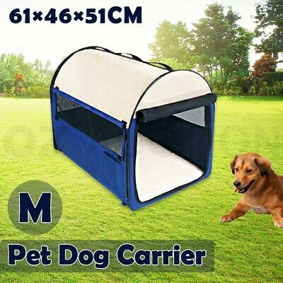 M Folding Cat Puppy Dog Carrier Travel Cage Tent Kennel Pet Portable Soft Crate