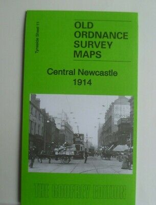 Old Ordnance Survey Maps Central Newcastle Tyneside 1914 Sheet 11 New