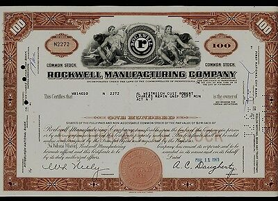 ROCKWELL MANUFACTURING COMPANY issued to Al Westreich