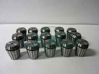 15pcs ER32 COLLET SET--common sizes--1/4, 3/8, 1/2, 5/8, 3/4--overstocked--New