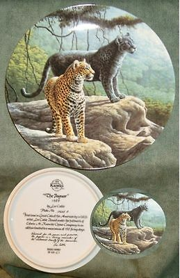 Knowles The Jaguar 1989 Collector's Plate