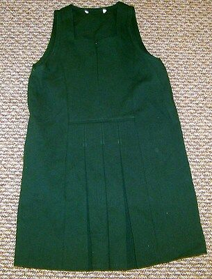 M & S New Girls School Dress Brown Green Ages  5 6 7 8 9  Pinafore