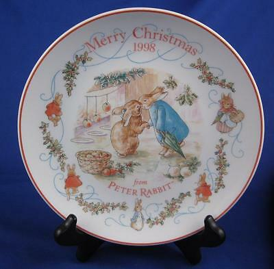 Peter Rabbit Wedgwood England Merry Christmas Plate 1998 Beatrix Potters Collect