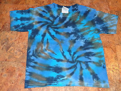 Hippie kids Tie dye dyed short sleeve tee 2T Toddler youth Heavy Cotton t-shirt