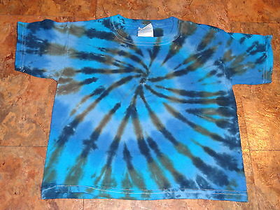 Hippie kids Tie dye dyed short sleeve tee 3T Toddler youth Heavy Cotton t-shirt