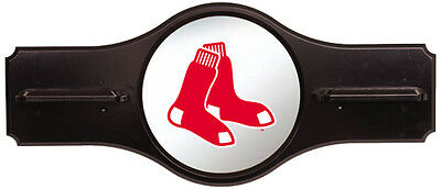 Deluxe Hard Wood Boston Red Sox Cue Wall Rack - Holds 6 Cues - Mirrored Sox Logo