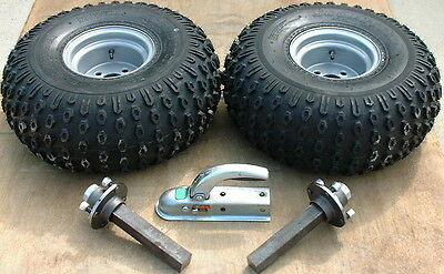 ATV Trailer Tyres,wheels, hubs and tow hitch *look*!!!!
