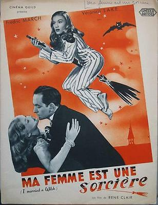 I MARRIED A WITCH 1942 RENE CLAIR - French PRESSE BOOK