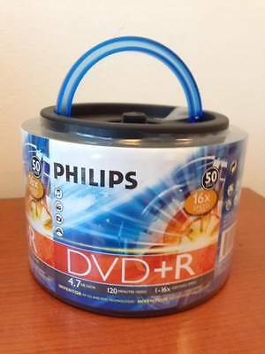 100-pack Philips branded 16x DVD+R Blank Recordable media Disk Disc DR4S6H50F/17