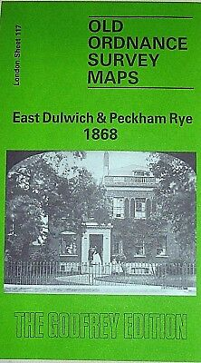 Old Ordnance Survey Maps East Dulwich & Peckham Rye London 1868 Sheet 117
