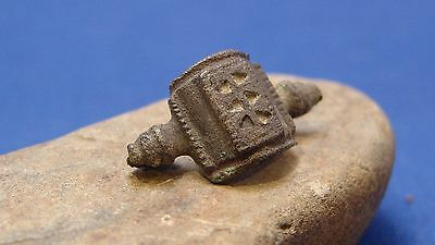 Ancient Roman  Bronze ornate Brooche