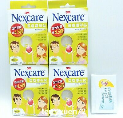 3M NEXCARE Acne Dressing Pimple Stickers 36pcs x 4 pack + Gift