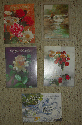 Vintage Greeting Cards - Mixed Lot of 5