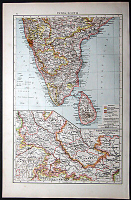1895 Times Atlas map - India, South - First edition