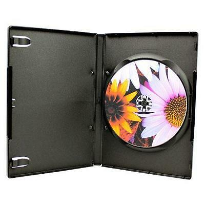 100-pk Generic Black Single 14mm CD DVD Storage Case Holder Box + Plastic Wrap