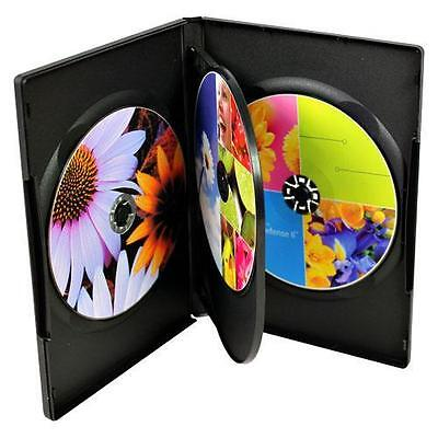 50-pk Generic Brand New Black Standard 14mm Quad Quadruple DVD Disc Storage Case