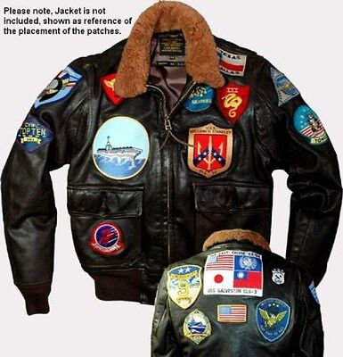 As Seen Movie Top Gun Maverick Usn G1 Flight Jacket 19 Patch Set Not Cheap Copy