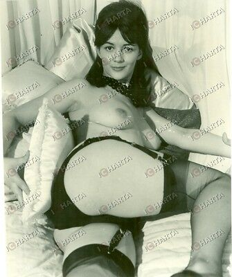 1965 ca EROTICA VINTAGE Naked woman in black lingerie  *FOTO