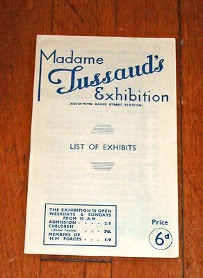 1945 Madame Tussaud's Exhibition Booklet~London