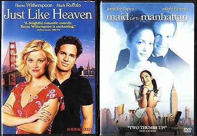 Just Like Heaven (DVD, 2006, Anamorphic Widescreen)& Maid In Manhattan(WS)2 DVDs