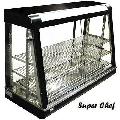 "New! Heated Food  Display Warmer Cabinet Case 48"" Glass on all sides & IN STOCK"