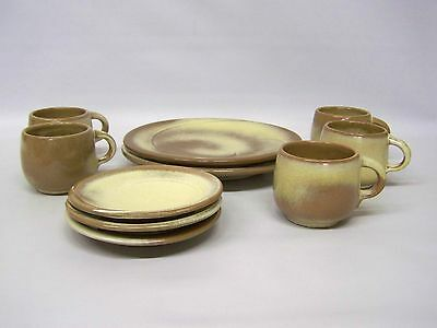 """Frankoma """" Lazy Bones """" Dinner Plates w/Cup and Saucers"""