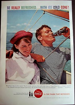 vintage 1959 Soda Ad day on the water Coca-Cola soft drink
