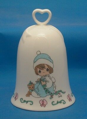 1995 Precious Moments MEOWIE CHRISTMAS Collectible Porcelain Bell
