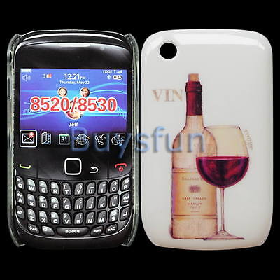 Red Wine Hard Cover Case Skin for BLACKBERRY CURVE 8520 9300 8530
