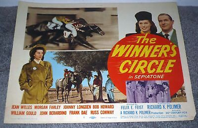 THE WINNER'S CIRCLE/HORSE RACING original 1948 Movie Poster JEAN WILLES